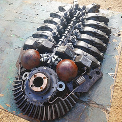 Steampunk trilobite made from scrap engine parts