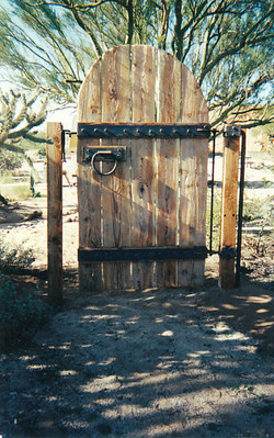 Old Gate with Steel Accents