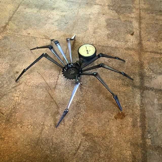 Steampunk Spider with Gauge