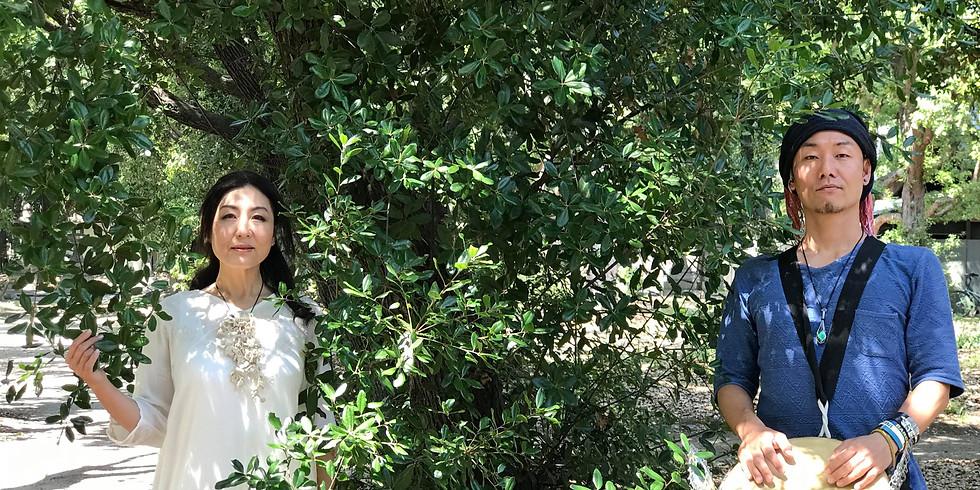 西宮香露園 植物音楽ユニット・大地の種少人数制プレミアコンサート