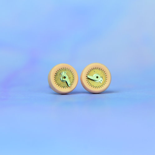 Light Pink Rare Timepiece Stud Earring (S)