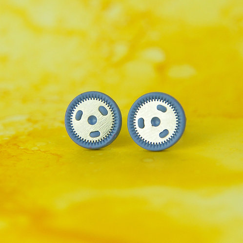 Periwinkle Blue Rare Timepiece Stud Earrings (M)