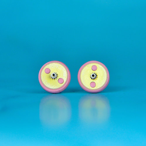 Baby Pink Rare Timepiece Stud Earrings (M)