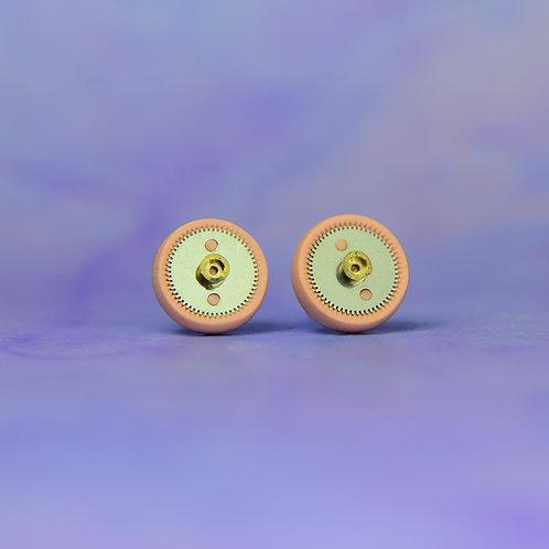 Light Pink Rare Timepiece Stud Earrings (M)
