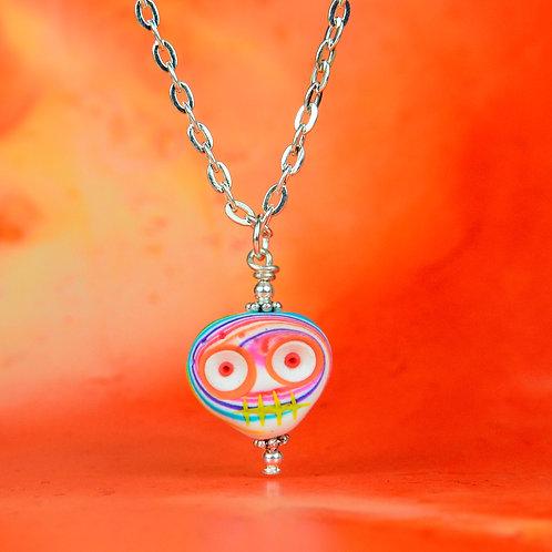 Rainbow Classic E-Skull Necklace