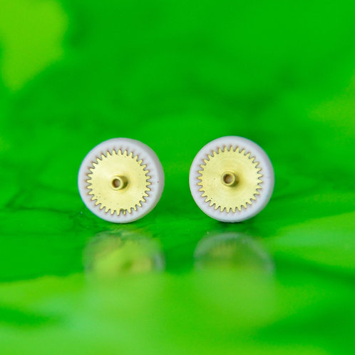 Baby Pink Timepiece Stud Earrings (S)