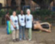 EleVETS Team members Dr. Susan Mikota, Dr. Tharaka Deepal, and EleVETS Project Manager Hollis Burbank-Hammarlund, Sri Lanka 2017.