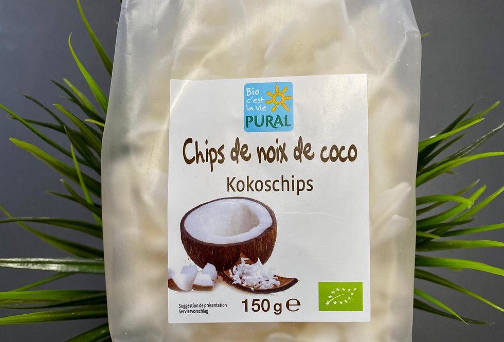 Kokosriekstu čipsi 150g