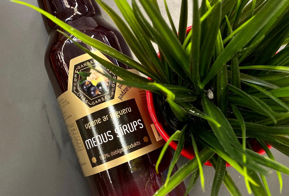 Upeņu un ingvera medus sīrups 750ml