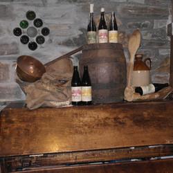 Beer in rustic setting