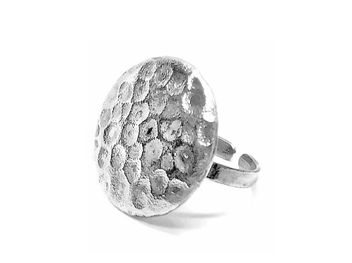 Bubble Christmas Silver Ring