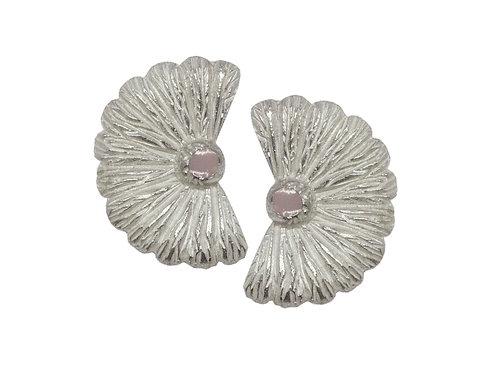 Silver Earrings and Pastel Enamel