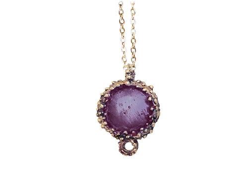 Bronze Enamel Necklace