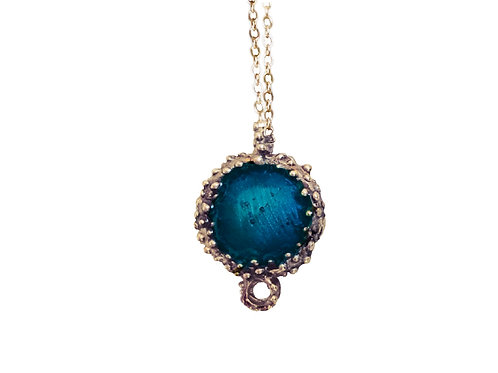 Bronze Enamel Necklace