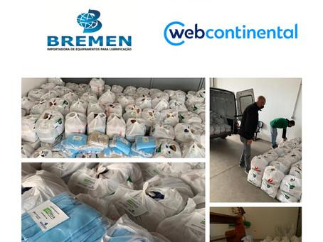 Usafibra realiza doação de 1,5 toneladas de alimentos