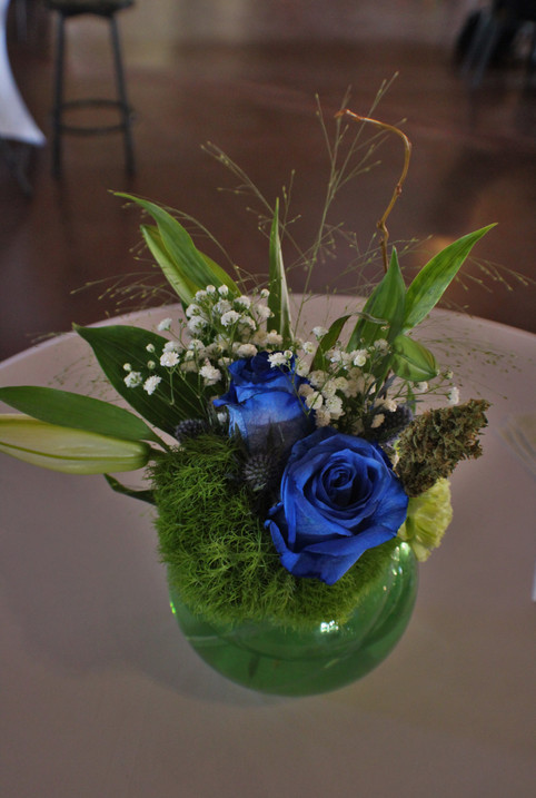 Highlife green and blue center pieces 12