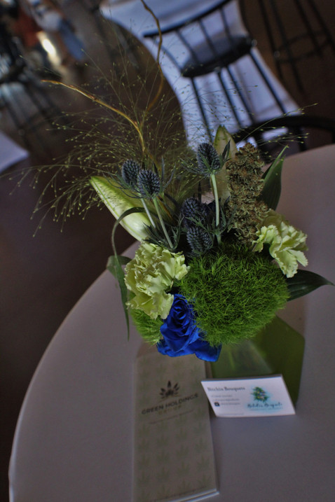 Hghife green and blue center pieces  3.J