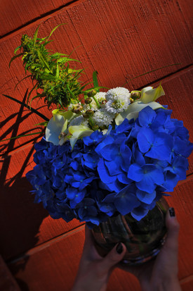 Blue hydranga bouquet 2.JPG