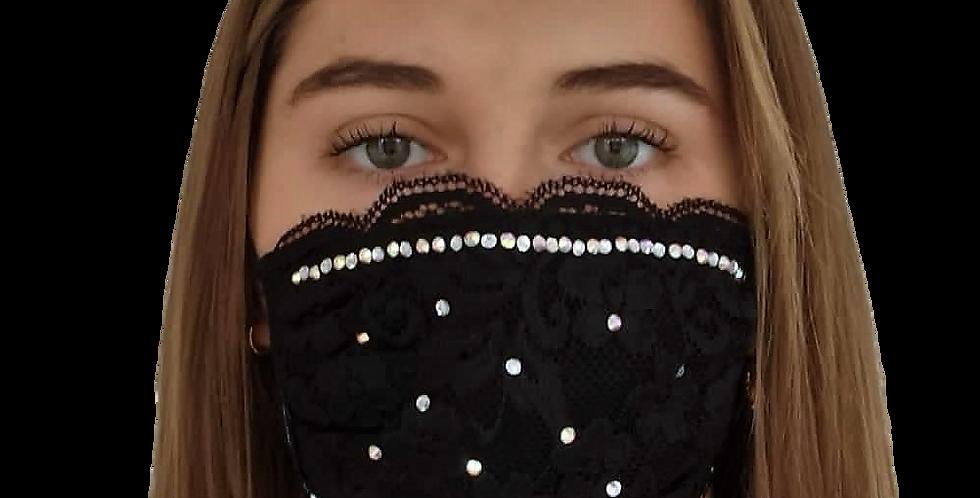 masque de bouche sprarkles & dentelle