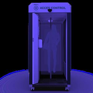 all-in capsule ontsmetting - desinfectie handen - temperatuurcontrole - gezichtsherkenning - maskercontrole - verneveling prebiotica en probiotica - automatisch