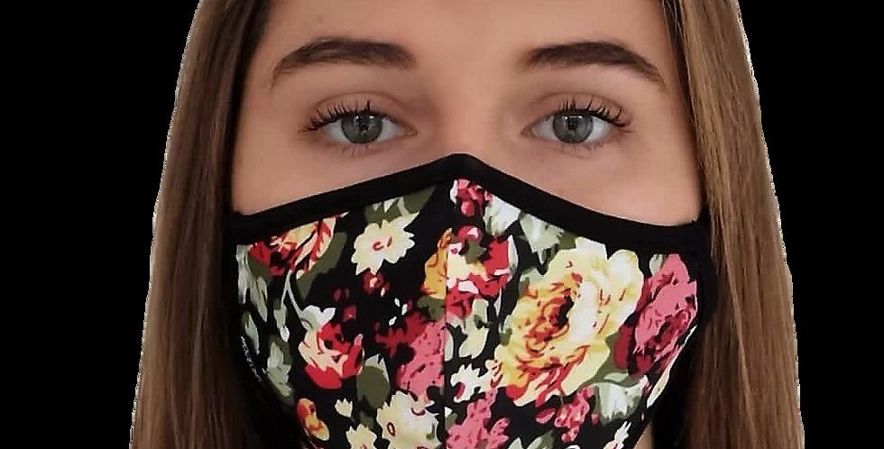 masque de visage fleurs classiques
