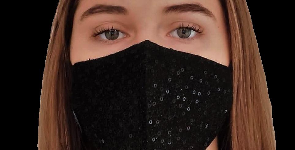 masque noir paillettes