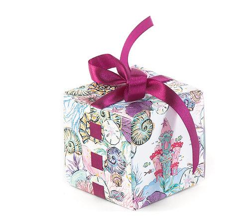 "Коробка кубик с лентой ""Русалочка"", 1 шт"