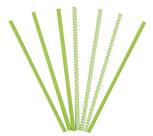 Трубочки для коктейлей зеленые