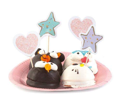 """Топперы для кексов и пирожных """"Волшебный Единорог"""", в наборе 8 шт"""