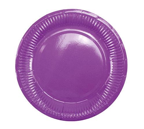 Тарелки бумажные фиолетовые