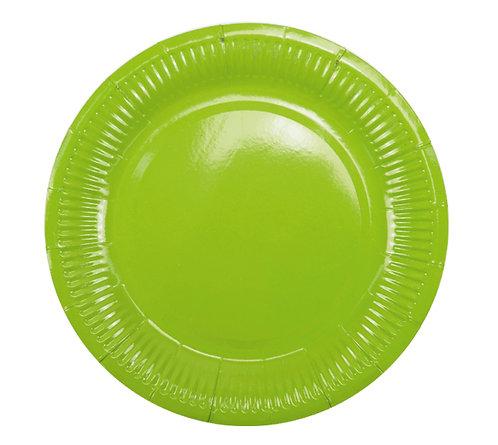 Тарелки бумажные зеленые