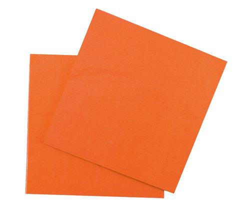 Салфетки бумажные оранжевые
