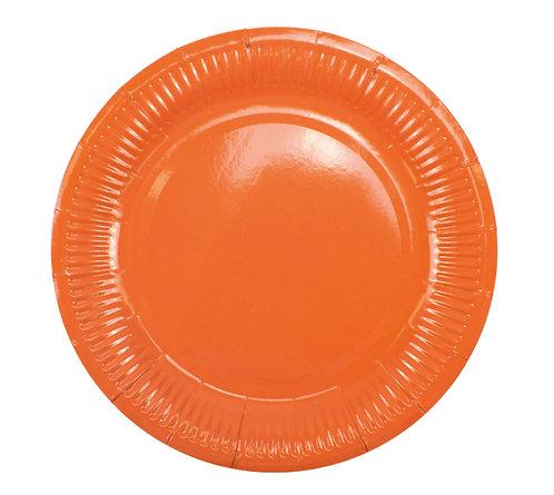 Тарелки бумажные оранжевые