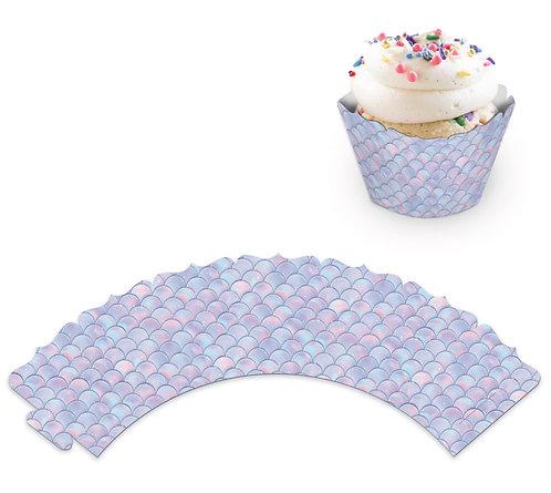 """Юбочки для украшения кексов и пирожных """"Русалочка"""", в наборе 8 шт"""