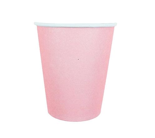 Стаканчики бумажные розовые