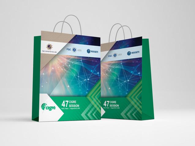 Бумажный пакет для Выставки в Париже СИГРЭ НТЦ