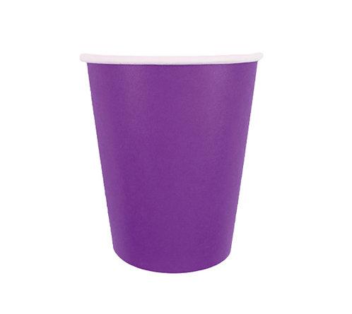 Стаканчики бумажные фиолетовые