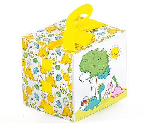 """Коробка кубик с лентой """"Динозаврики"""", 1 шт"""