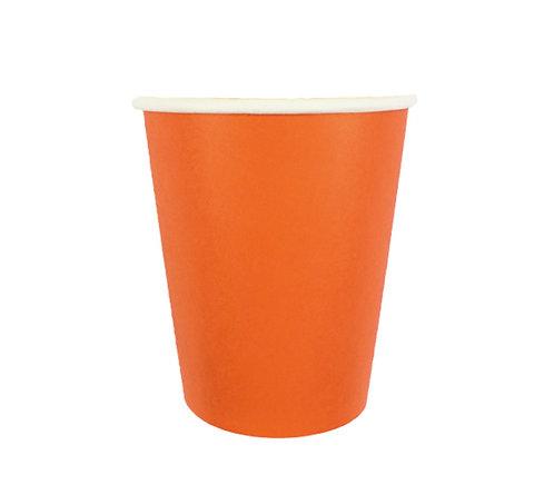 Стаканчики бумажные оранжевые