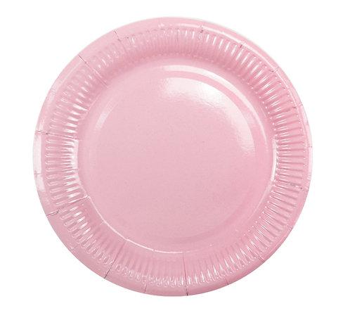 Тарелки бумажные розовые