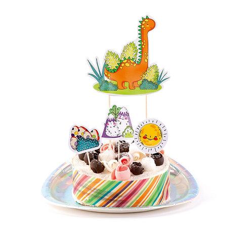 """Украшения для торта """"Динозаврики"""""""
