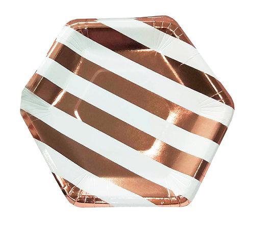 Тарелки бумажные золотые
