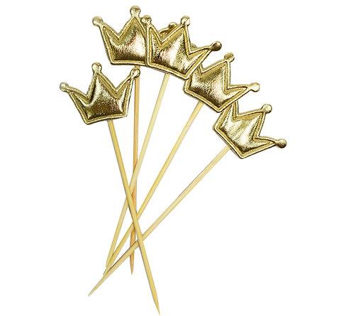 Шпажки для канапе Корона золотая