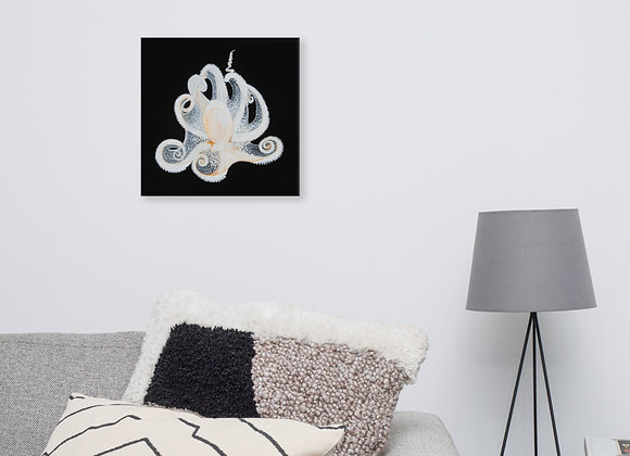 """White Octopus"" print on canvas"