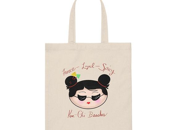 Kim-Chi Beaches Eco Canvas Tote Bag