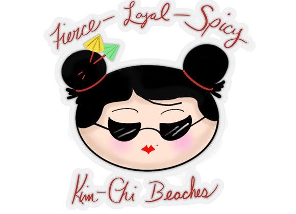Kim-Chi Beaches Stickers