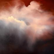 Scarlet Evening oil on board 61 x 76 cm