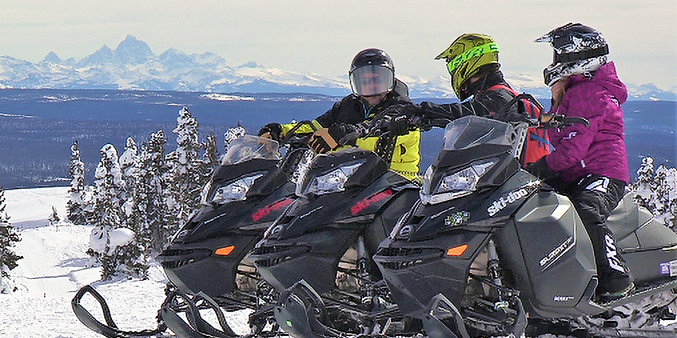 Snowmobile Overland Trail Ride
