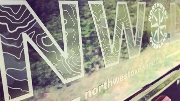 NWOL Die Cut Vinyl Decal 4x12