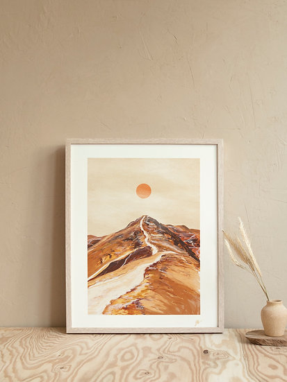 'Catbells' Abstract Lake District Print